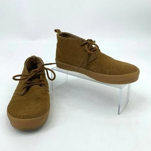 Gap Suede Leather Shoes Youth Kids Lace Up Chukka